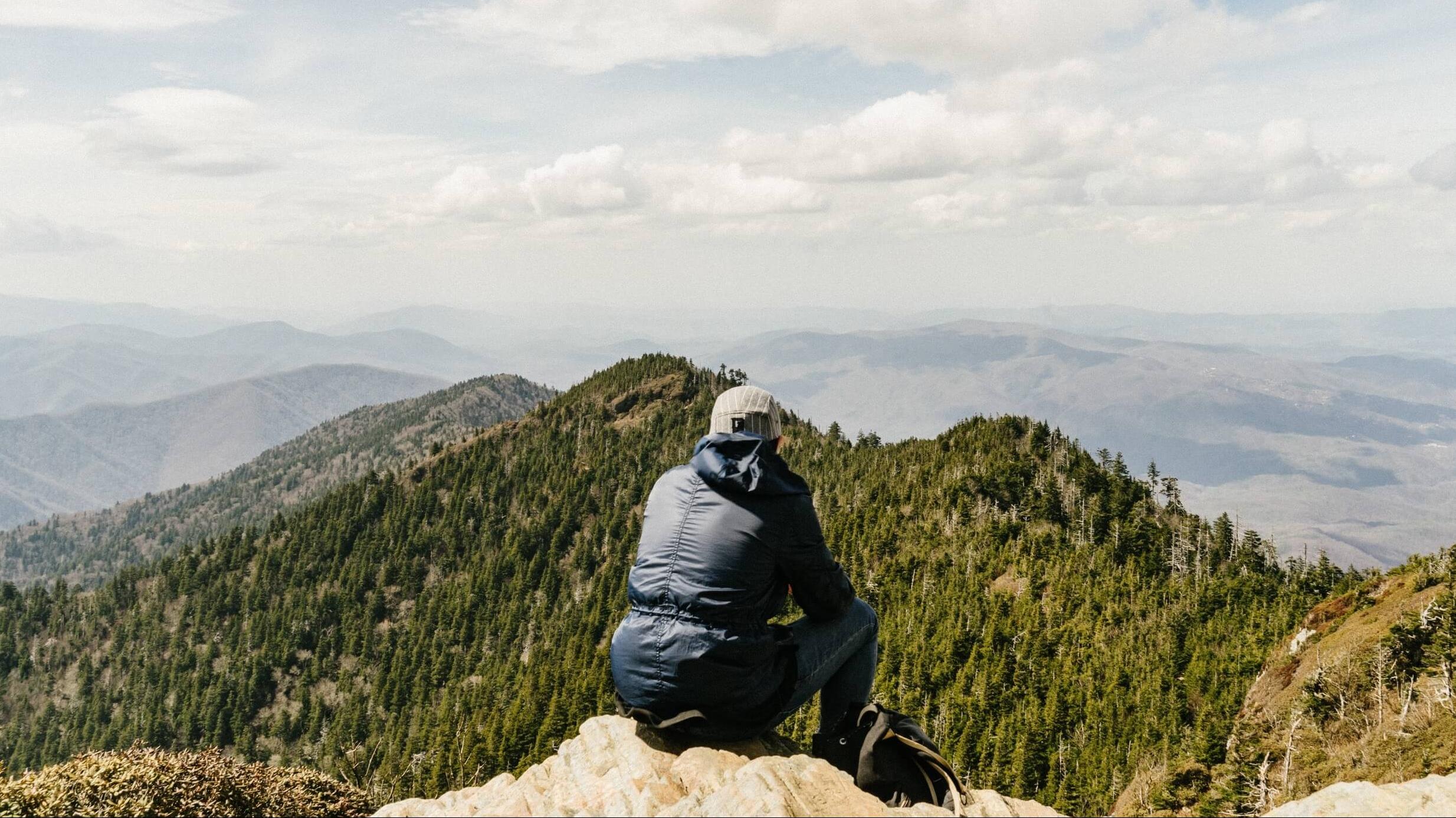sitting mountaintop