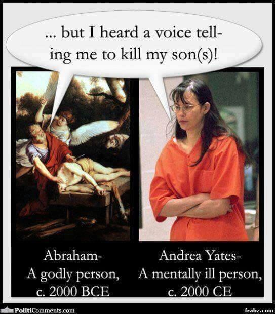 "God told me to kill my son "" Was Abraham mentally ill? - God"